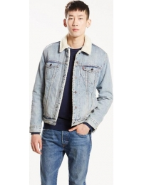 Levis overcoat of ganga type 3 sherpa trucker