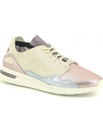 Le coq sportif sapatilha lcs r flow metallic leather mix w