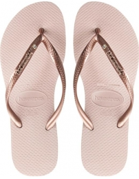 Havaianas flip flop slim metal logo and crystal w