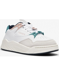 Lacoste sapatilha court slam synthetic and leather w