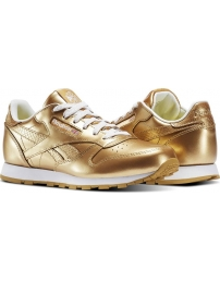 Reebok sports shoes classic leather metallic jr