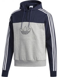 Adidas sweat c/ capuz outline mixed