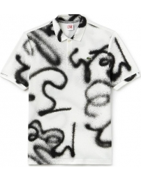 Lacoste polo live graffiti print regular fit