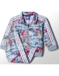 Adidas fato de treino flower tropical inf