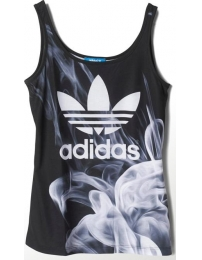 Adidas t-shirt alças white smoke layer rita ora