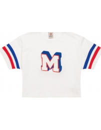 Franklin & marshall t-shirt cropped applique
