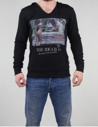 Boombap young hoodie v-neck cut man