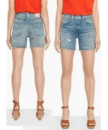 Levis short high rise cut off w