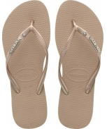 Havaianas sandalia slim metal logo and crystal w