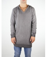 Boombap hoodie reversed fleece reglan v-neck