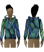 Boombap blue feathers hoodie v-neck iconic