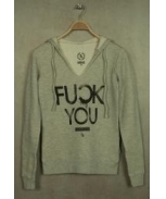 Boombap fyou brushed hoodie v-neck women