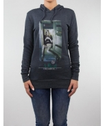 Boombap fridge hoodie r-neck rib woman