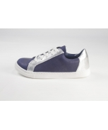 Sports shoes blue and silver