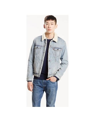 Levis overcoat of ganga type 3 sherpa trucker of Levis on My7streets ... 686a90ab735