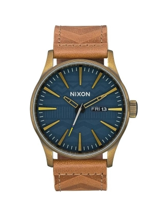 Nixon relógio sentry leather