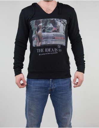 Boombap young hoodie v-neck cut man