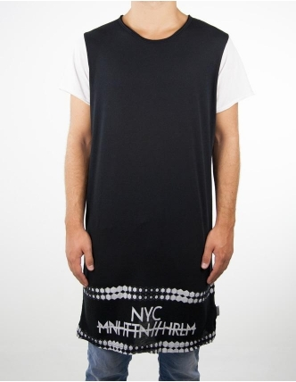 Boombap nyc-g tee r-neck long laser cut men